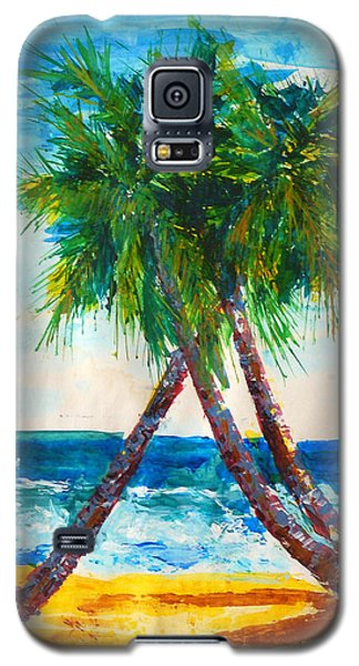 South Beach Palms Galaxy S5 Case