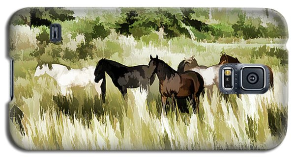 South Dakota Herd Of Horses Galaxy S5 Case by Wilma Birdwell