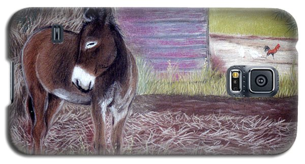 Galaxy S5 Case featuring the pastel South Georgia Mule by Jan Amiss