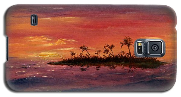 Galaxy S5 Case featuring the painting South Pacific Atoll by Jack Skinner