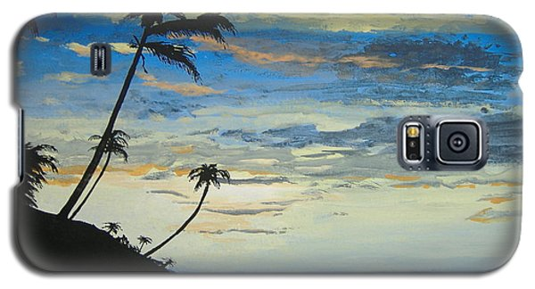Galaxy S5 Case featuring the painting South Sea Sunset by Norm Starks