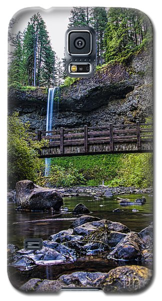 South Silver Falls With Bridge Galaxy S5 Case by Darcy Michaelchuk