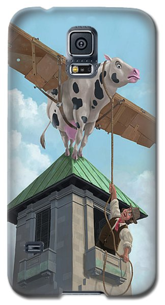 Southampton Cow Flight Galaxy S5 Case by Martin Davey