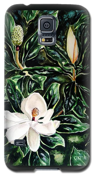 Southern Magnolia Bud And Bloom Galaxy S5 Case by Patricia L Davidson
