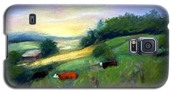 Galaxy S5 Case featuring the painting Southern Ohio Farm by Gail Kirtz