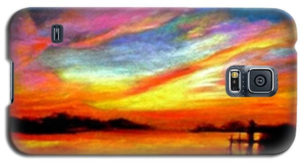 Galaxy S5 Case featuring the painting Southern Sunset by Gail Kirtz