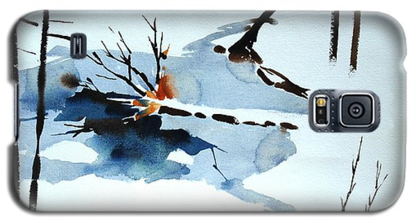 Galaxy S5 Case featuring the painting Southern Vermont Roadside Runoff by Len Stomski