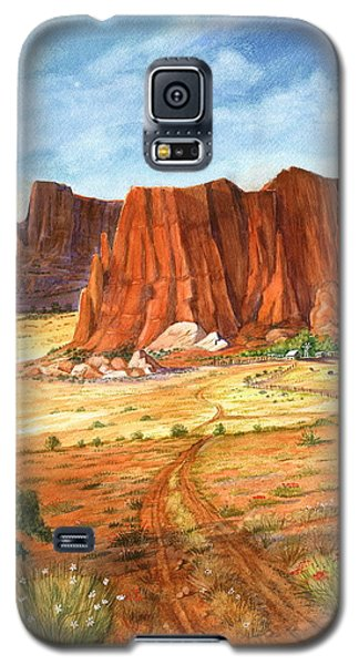 Galaxy S5 Case featuring the painting Southwest Red Rock Ranch by Marilyn Smith