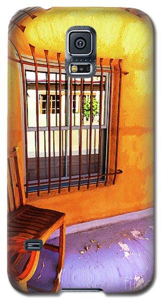 Southwestern Porch Distortion With Puple Floor Galaxy S5 Case