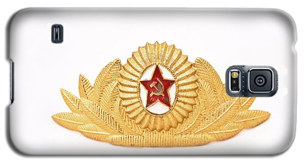 Galaxy S5 Case featuring the photograph Soviet Army Officer Cap Badge by Yurix Sardinelly