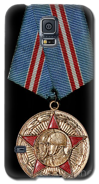 Galaxy S5 Case featuring the photograph Soviet Military Medal by Yurix Sardinelly