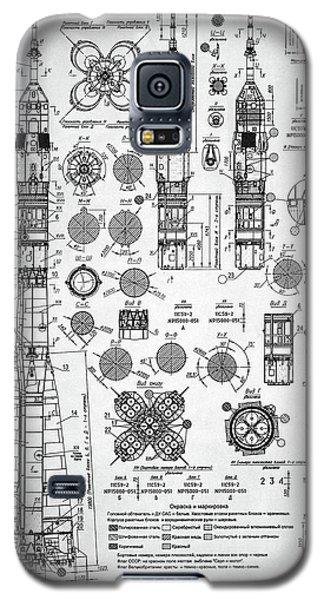 Soviet Rocket Schematics Galaxy S5 Case by Taylan Apukovska
