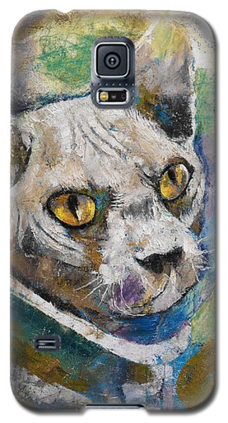 Space Cat Galaxy S5 Case by Michael Creese