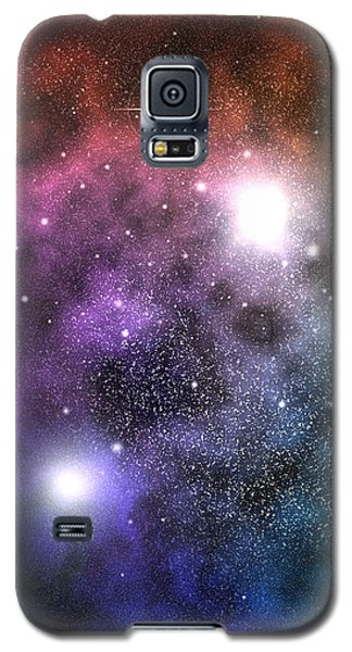 Galaxy S5 Case featuring the digital art Space Clouds by Phil Perkins