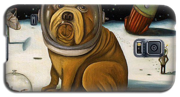 Dog Galaxy S5 Case - Space Crash by Leah Saulnier The Painting Maniac