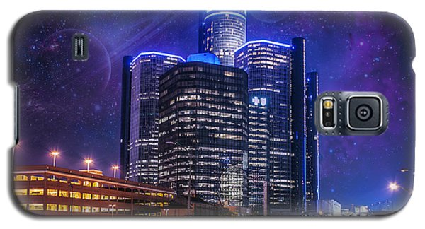 Galaxy S5 Case featuring the photograph Space Detroit by Nicholas  Grunas