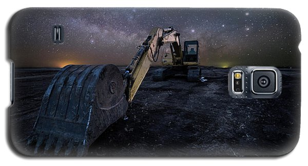 Galaxy S5 Case featuring the photograph Space Excavator  by Aaron J Groen