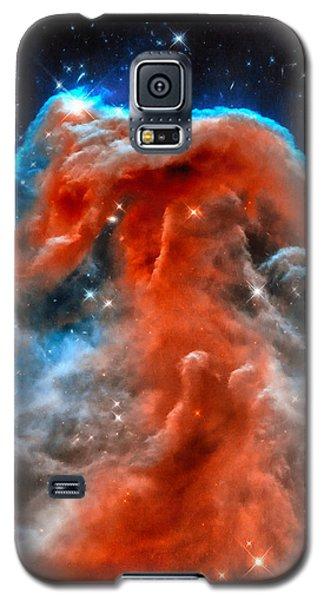 Space Image Horsehead Nebula Orange Red Blue Black Galaxy S5 Case