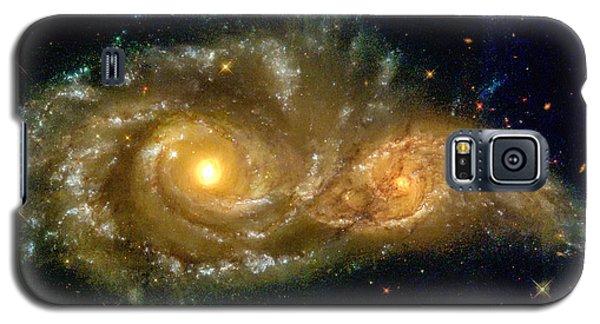 Space Image Spiral Galaxy Encounter Galaxy S5 Case