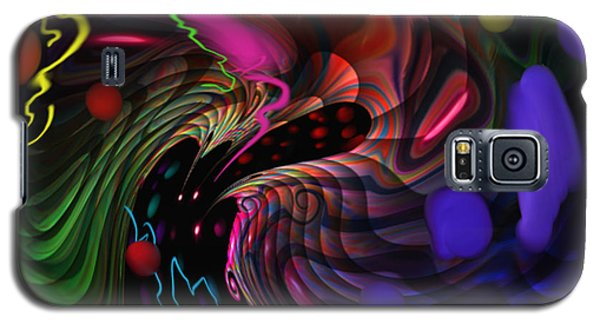 Galaxy S5 Case featuring the painting Space Rocks by Kevin Caudill