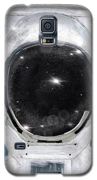Galaxy S5 Case featuring the painting Space Selfie by Bri B