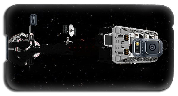 Spaceship Uss Cumberland Traveling Through Deep Space Galaxy S5 Case