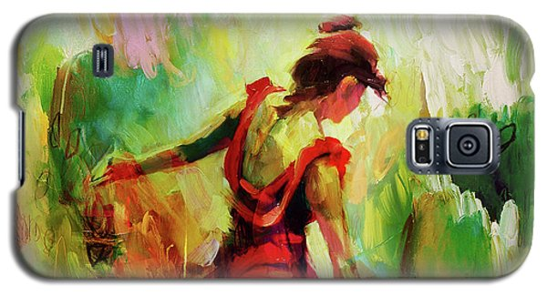 Galaxy S5 Case featuring the painting Spanish Female Art 56y by Gull G