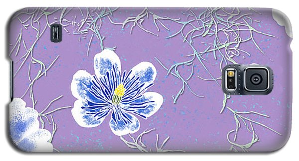 Lavender Spanish Moss Tile Galaxy S5 Case
