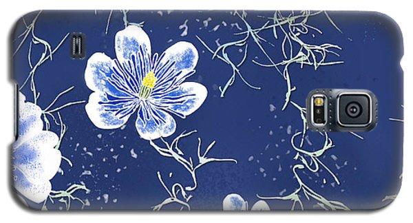 Indigo Batik Tile 4 - Spanish Moss Galaxy S5 Case
