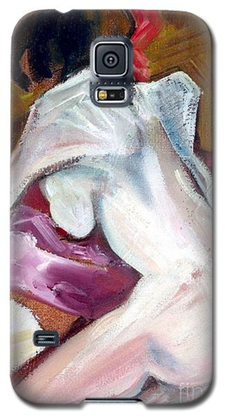 Galaxy S5 Case featuring the mixed media Sparkle - Female Nude by Carolyn Weltman