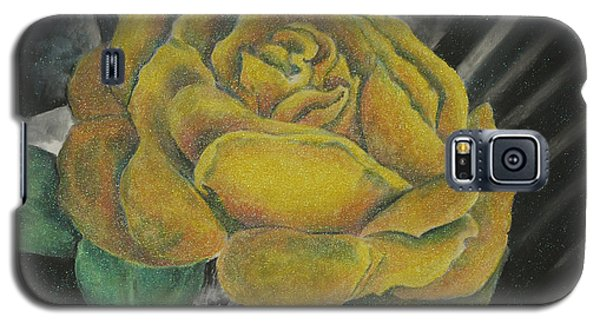 Galaxy S5 Case featuring the painting Sparkling Rose by Miriam Shaw