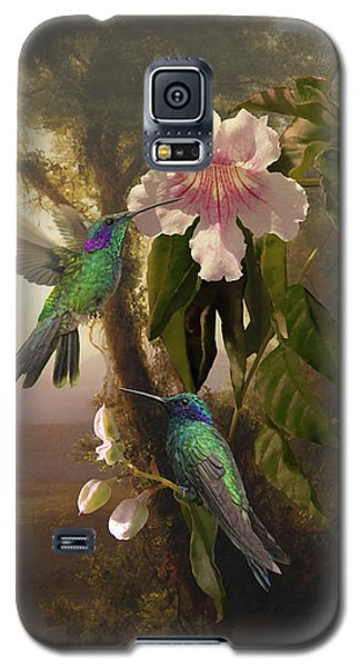 Sparkling Violetear Hummingbirds And Trumpet Flower Galaxy S5 Case