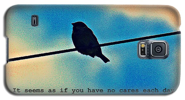 Sparrow On The Wire- Fine Art And Poetry Galaxy S5 Case