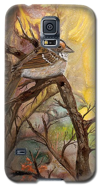 Galaxy S5 Case featuring the painting Sparrow by Sherry Shipley