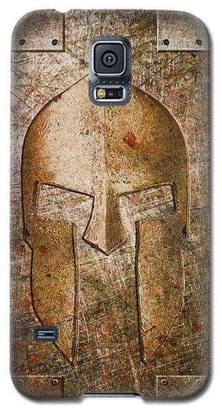 Spartan Helmet On Metal Sheet With Copper Hue Galaxy S5 Case