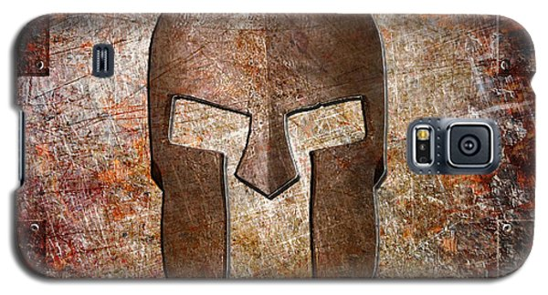 Spartan Helmet On Rusted Riveted Metal Sheet Galaxy S5 Case