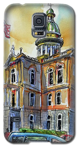 Galaxy S5 Case featuring the painting Spectacular Courthouse by Terry Banderas