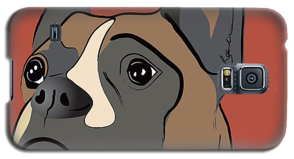 Spencer Boxer Dog Portrait Galaxy S5 Case