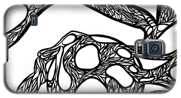 Galaxy S5 Case featuring the drawing Sphere by Jamie Lynn