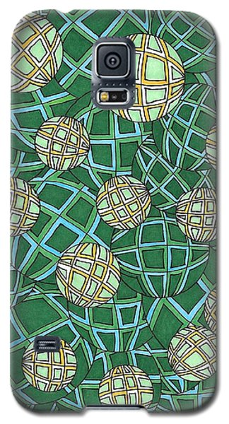 Spheres Cluster Green Galaxy S5 Case