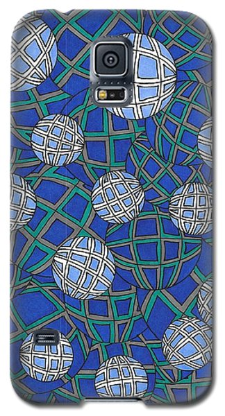 Spheres In Blue Galaxy S5 Case