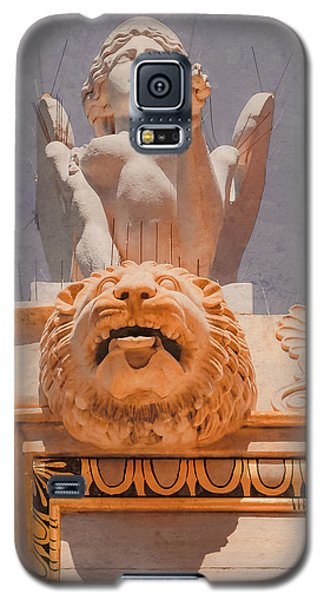 Galaxy S5 Case featuring the photograph Athens, Greece - Sphinx And Scupper by Mark Forte