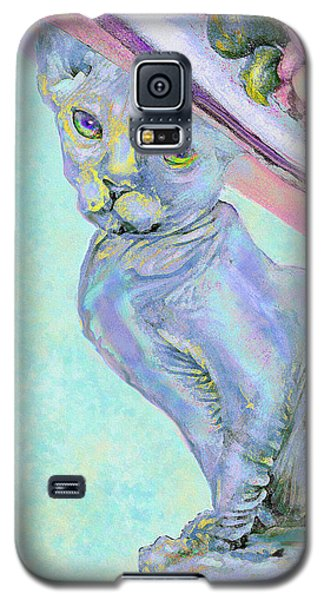 Sphinx In Pink Hat Galaxy S5 Case by Jane Schnetlage