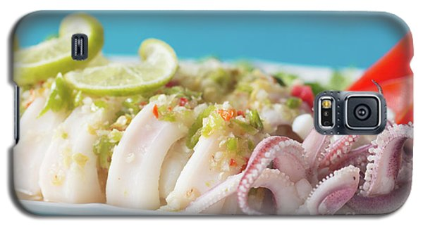 Galaxy S5 Case featuring the photograph Spicy Food, Steamed Squid by Atiketta Sangasaeng