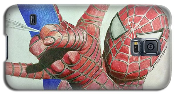 Galaxy S5 Case featuring the drawing Spiderman by Michael McKenzie