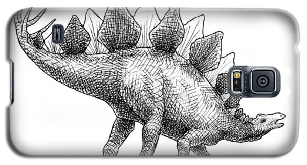 Stegosaurus - Dinosaur Decor - Black And White Dino Drawing Galaxy S5 Case