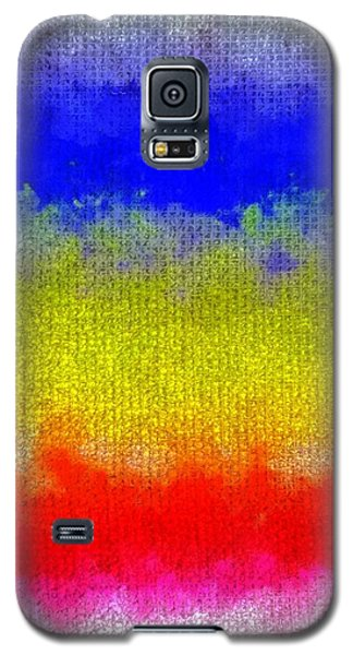 Galaxy S5 Case featuring the digital art Spilled Paint 1 by Darla Wood