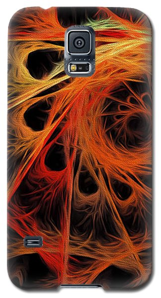 Galaxy S5 Case featuring the digital art Spiral Abstract by Andee Design
