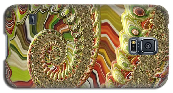 Galaxy S5 Case featuring the photograph Spiral Fractal by Bonnie Bruno