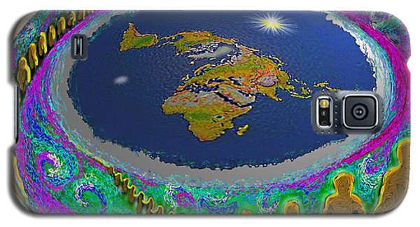 Spiral Of Souls Flat Earth Galaxy S5 Case
